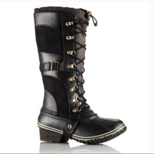 Sorel conquest carly high winter lace boots